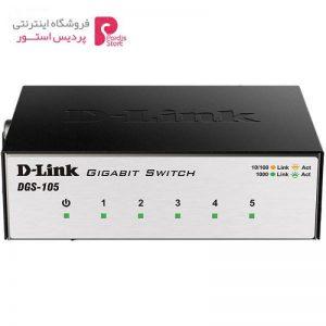 سوییچ 5 پورت گیگابیت و دسکتاپ دی-لینک مدل DGS-105 - 0