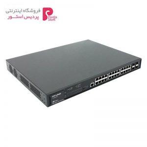 سوییچ مدیریتی گیگابیتی 24 پورت PoE Plus تی پی-لینک به همراه 4 پورت Combo SFP مدل TL-SG3424P - 0
