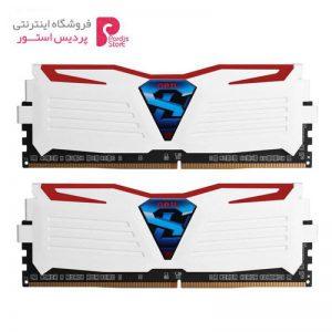 رم دسکتاپ DDR4 دو کاناله 3000 مگاهرتز CL15 گیل مدل Super Luce سری سفید ظرفیت 16 گیگابایت - 0