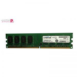 رم دسکتاپ DDR2 تک کاناله 800 مگاهرتز CL6 کروشیال مدل UDIMM ظرفیت 2 گیگابایت - 0