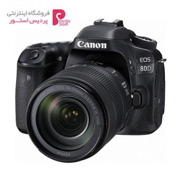 دوربین دیجیتال کانن مدل Eos 80D EF S به همراه لنز 18-135 میلی متر f/3.5-5.6 IS USM - 0