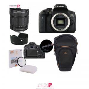 پک دوربین عکاسی کانن 750Dبا لنز 18_135 STM