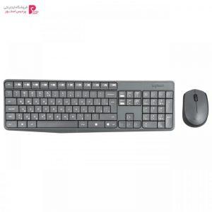 کیبورد و ماوس بی سیم لاجیتک مدل MK235 با حروف فارسی Logitech MK235 Wireless Keyboard and Mouse with Persian Letters - 0