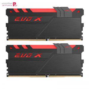 رم دسکتاپ DDR4 دو کاناله 2400 مگاهرتز CL17 گیل مدل Evo X AMD Edition ظرفیت 16 گیگابایت Geil Evo X AMD Edition DDR4 2400MHz CL17 Dual Channel Desktop RAM 16GB - 0