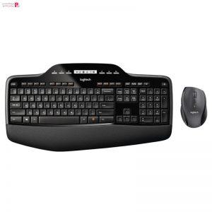 کیبورد و ماوس بیسیم لاجیتک مدل MK710 با حروف فارسی Logitech MK710 Wireless Desktop Keyboard and Mouse With Persian Letters - 0