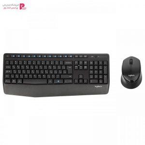 کیبورد و ماوس بی سیم لاجیتک مدل MK345 با حروف فارسی Logitech MK345 Wireless Keyboard and Mouse With Persian Letters - 0