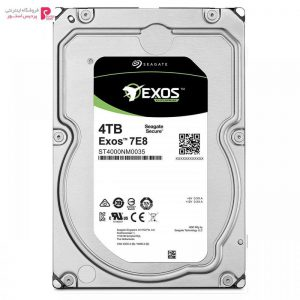 هارد دیسک اینترنال سیگیت مدل Exos ST4000NM0035 ظرفیت 4 ترابایت Seagate Exos ST4000NM0035 Internal Hard Drive 4TB - 0
