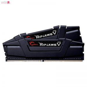 رم دسکتاپ DDR4 دو کاناله 3200 مگاهرتز CL16 جی اسکیل مدل ripjaws v ظرفیت 32 گیگابایت بسته دو عددی - 0