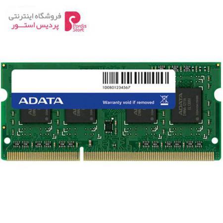رم لپ تاپ ای دیتا مدل DDR3L 1600MHz ظرفیت 8 گیگابایت - 0